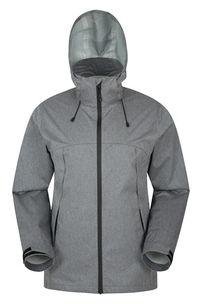 Ravine Textured 2.5 Layer Mens Waterproof Jacket - Grey