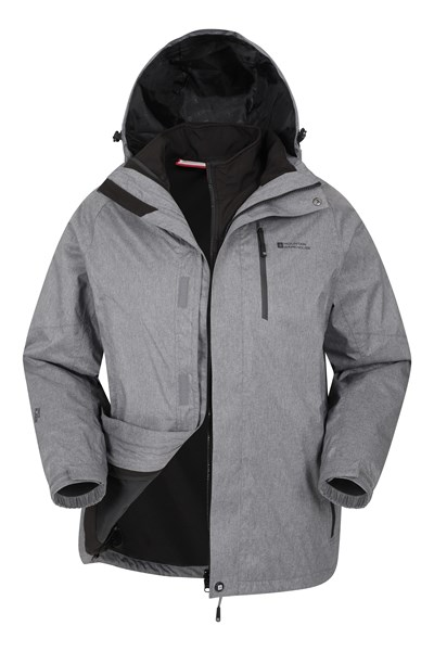 Climb 3 In 1 Extreme Waterproof Jacket - Grey