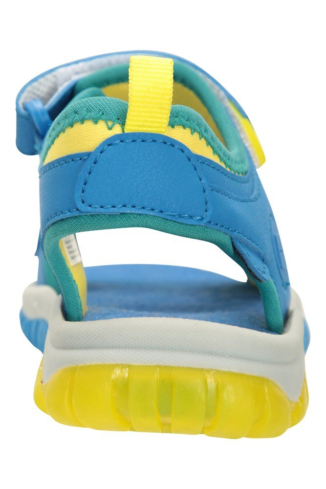 EVA Footbed Light Up Soles Synthetic Upper Best for Walking Mountain Warehouse Marine Light-Up Kids Sandals Soft Neoprene Lined Fun Design Childrens Shoes