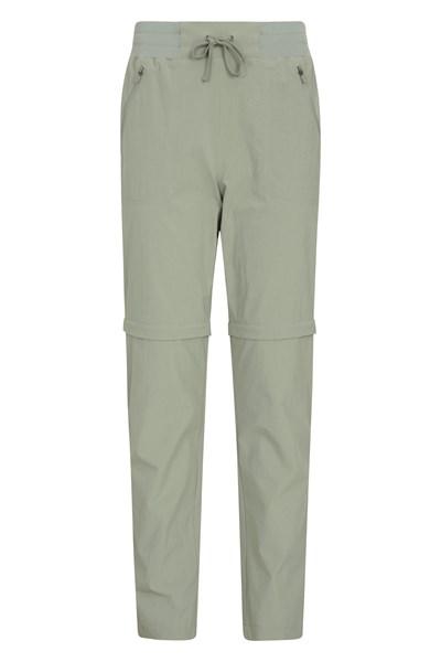 Explorer Womens Zip Off Trousers - Green