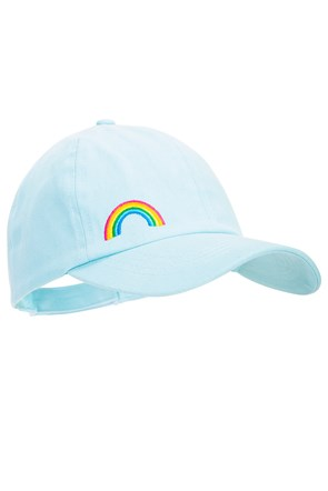 Rainbow Embroidery Kids Baseball Cap