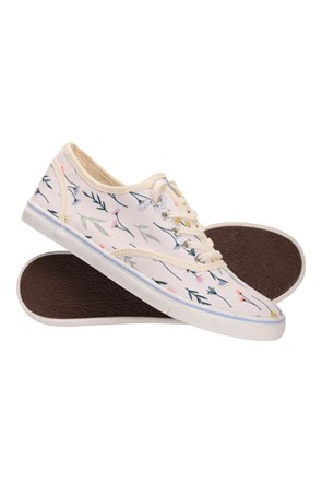 Printed Canvas Womens Plimsolls