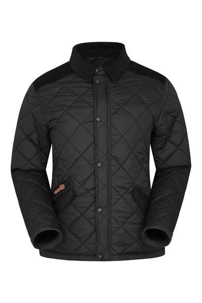 Worcester Mens Quilted Padded Jacket - Black
