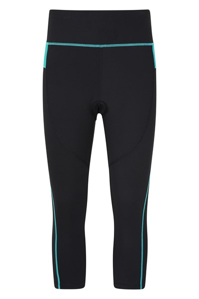 Speed Up Womens High-Waisted Capri Cycle Leggings - Blue