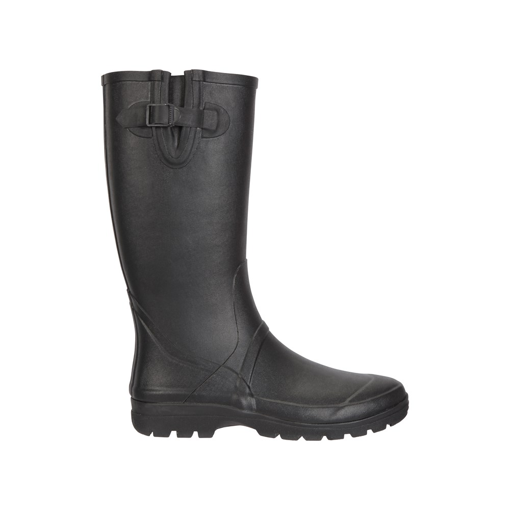 Mountain Warehouse Mens Wellies Cotton Lined Wellington Boots Waterproof Wellys