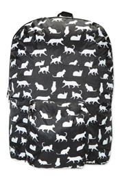 Neon Sheep Printed Foldaway Backpack