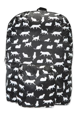 Printed Foldaway Backpack
