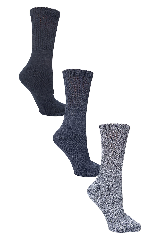 Lot de chaussettes d'extérieur - Pour homme - Bleu Marine