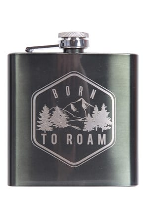 Born To Roam Hip Flask - 170ml