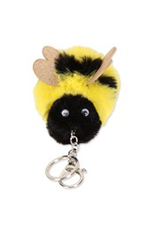 Neon Sheep Fluffy Bumble Bee Key Ring