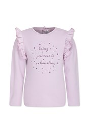 Neon Sheep Princess Frill Sleeve Kids Sweater