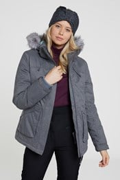 Snow Textured Womens Ski Jacket