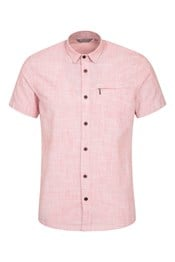 Coconut Short-Sleeved Mens Slim Fit Shirt