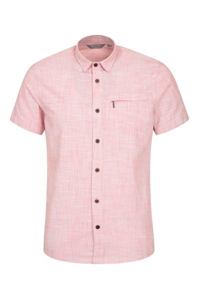 Coconut Short-Sleeved Mens Slim Fit Shirt - Orange