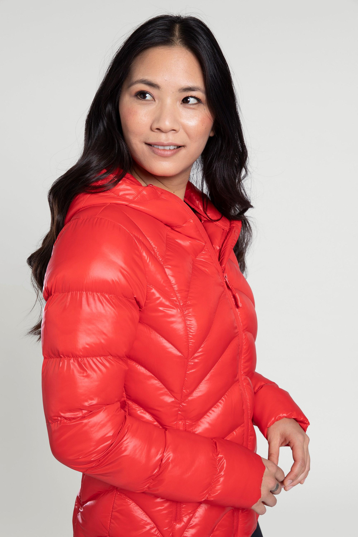 Helsinki - pikowana kurtka damska - Red