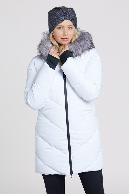 Advance - pikowana kurtka damska - White