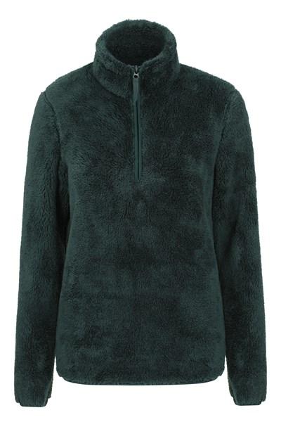 Teddy Womens Half-Zip Fleece - Green