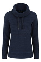 Snowdon Melange Womens Cowl Neck Fleece