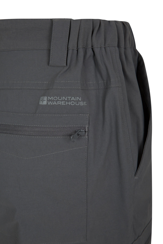 para Senderismo y Viajes f/áciles de Transportar Mountain Warehouse Pantalones El/ásticos Hombre Trek Pantalones Ligeros el/ásticos