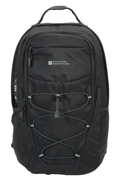 Recycled Polyester Laptop Backpack - 20L - Black