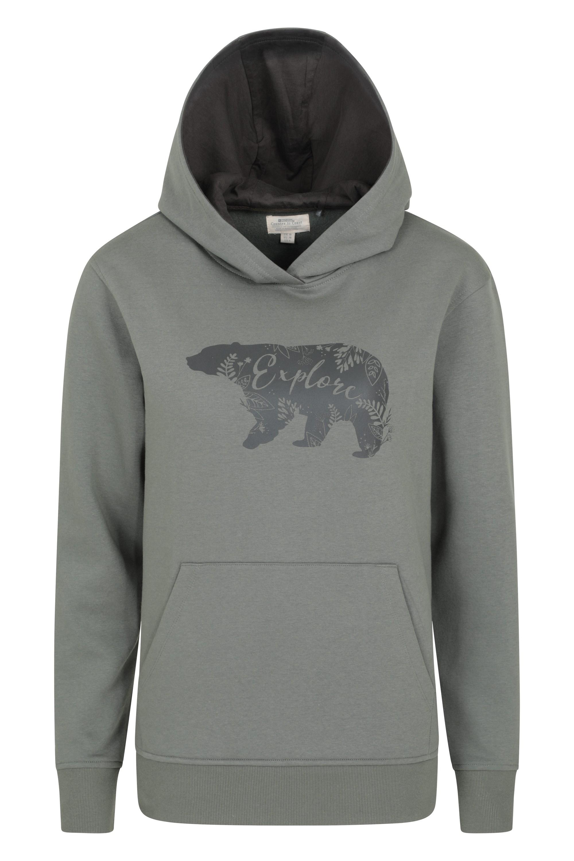 Explore Bear - bluza z kapturem damska - Green