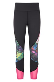 036476 POWER PATTERNED HIGH WAISTED WOMENS LEGGING