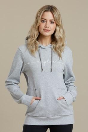 Explore Embroidered Womens Hoodie