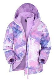 Aries Printed Waterproof Kids 3-in-1 Jacket