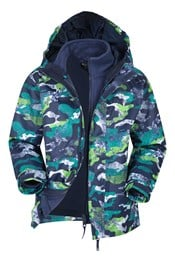 Atom Printed Waterproof 3-in-1 Kids Jacket