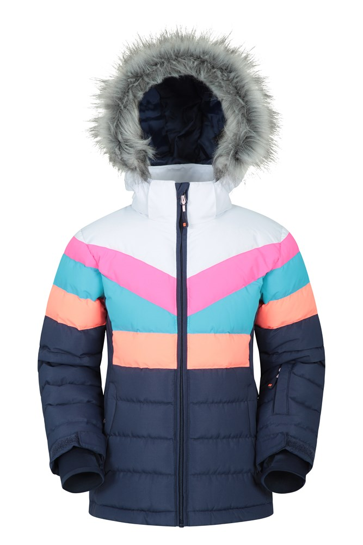 Invierno Caminar y al Aire Libre Paneles de Colores Mountain Warehouse Ashbourne Polar con Cremallera Infantil para Viajar Suave Jersey Ligero para ni/ños y ni/ñas