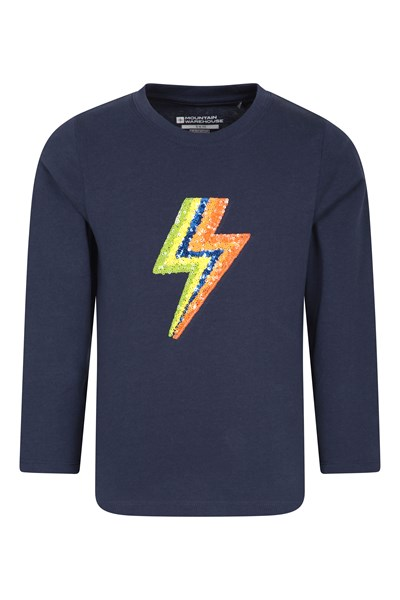 Lightning Bolt Kids Long-Sleeve Top - Navy