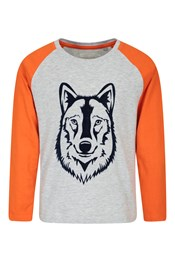 Wolf Long-Sleeve Kids Top