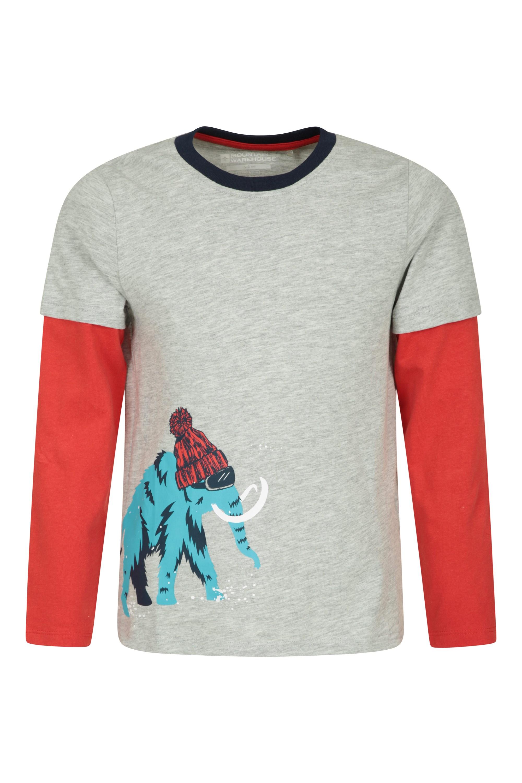 Id/éal pour Les Vacances T-Shirt 100/% Coton Mountain Warehouse Tee-Shirt Dinosaure /à Sequins pour Enfant Haut Respirant Tee-Shirt l/éger la randonn/ée Bleu Marine 7-8 Ans