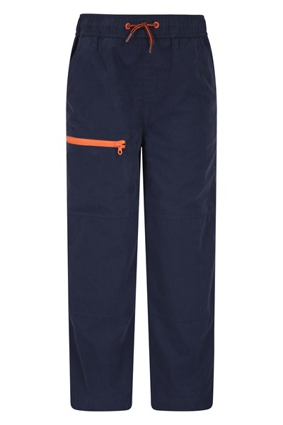 Adventure Kids Trousers with Reinforced Knees - Navy