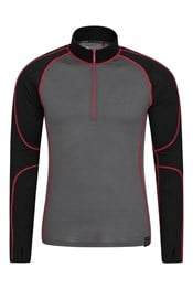 Asgard II Mens Merino Zip-Neck Top