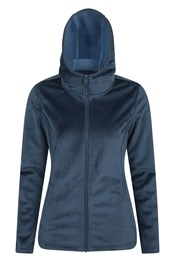 Windproof Velour Womens Hooded Fleece
