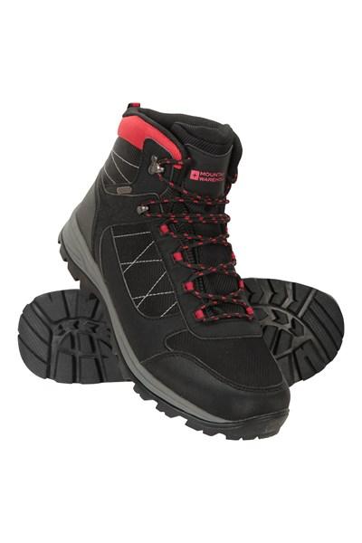 Ridge Mens Waterproof Walking Boots - Black