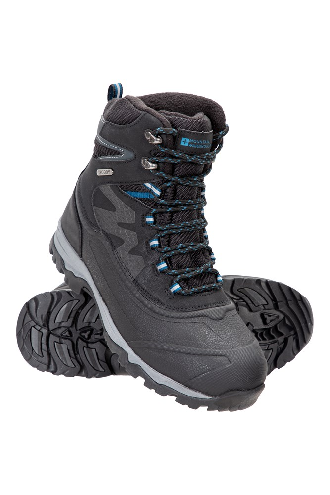 Mountain Warehouse Men  Woodland Camo Thermal Fleece Lined Snow Boot In