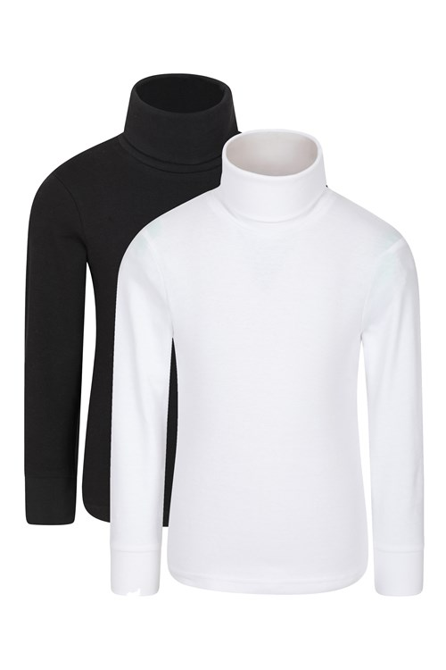 Lightweight Extremely Soft Mountain Warehouse Meribel Kids Cotton Roll Neck Top Perfect for Children This Winter 100/% Cotton Thermal Baselayer Breathable