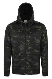 Nevis Printed Fleece Lined Mens Hoodie