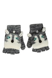 Wolf Knitted Kids Gloves