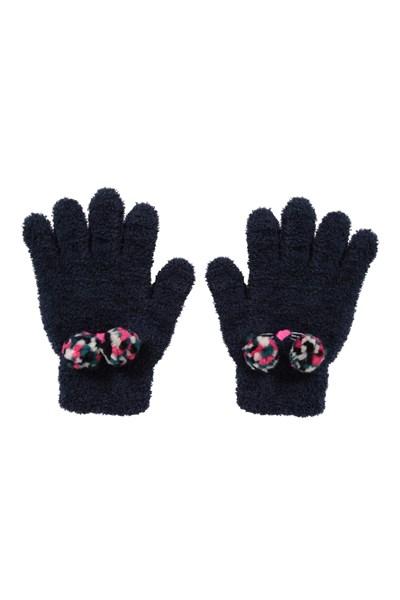 Cat Kids Gloves - Navy