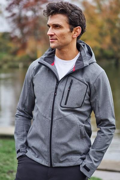 Glover Textured Mens Softshell Jacket - Grey