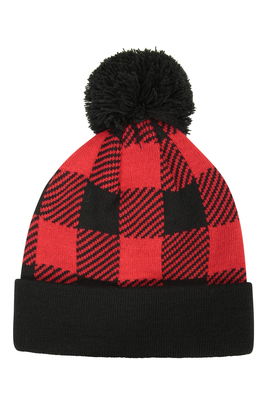 Bonnet Check Homme - Rouge