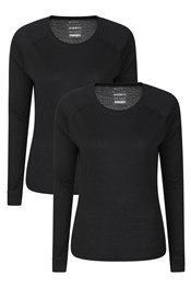 Talus Womens Round Neck Baselayer Top - 2-Pack