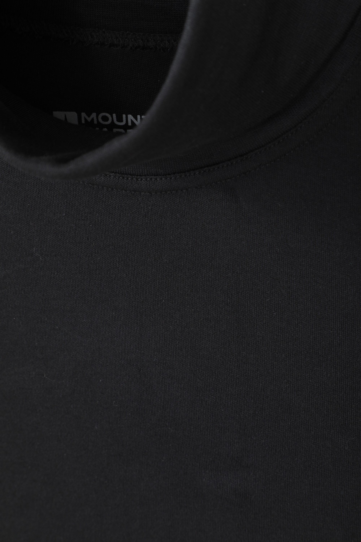 Mountain Warehouse Wms  Meribel Womens Cotton Roll Neck Top Multipack In Black