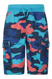 Pull-On Kids Camo Cargo Shorts
