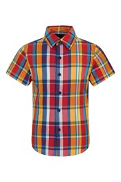 Multi-coloured Check Kids Shirt