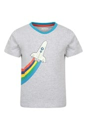 038418 ROCKET GLOW IN THE DARK ORGANIC KIDS SS TEE