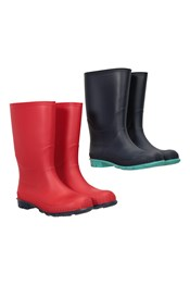 Plain Kids Wellies - 2-Pack